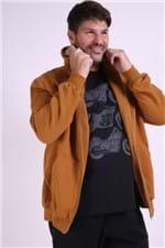 Blusão Aberto Moletom Felpado Plus Size Amarelo M
