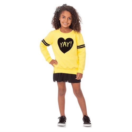 Blusão Infantil Abrange YAY! Amarelo 04