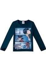 Blusão LadyBug® Menina Malwee Kids Azul Escuro - 8