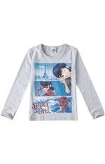 Blusão LadyBug® Menina Malwee Kids Cinza - 6