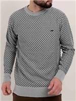 Blusão Tricot Masculino Cinza