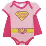 Body Bebê Feminino Manga Curta Super Baby-P