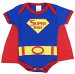 Body Bebê Masculino Manga Curta Super Baby-P