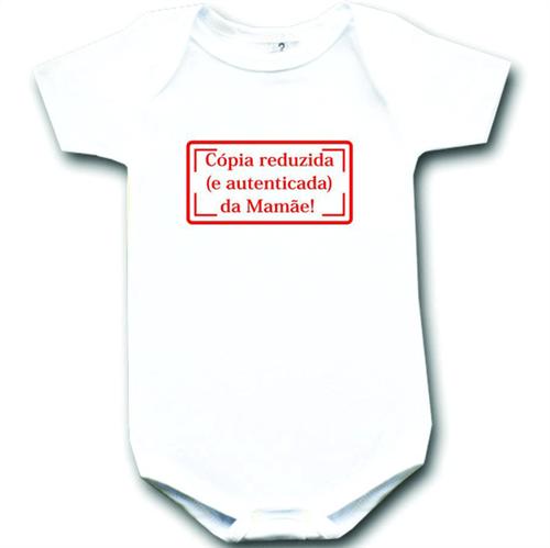Body Cópia Reduzida da Mamãe Cópia - Branco Curta P