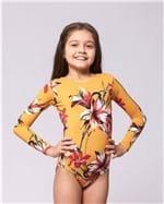 Body Infantil - Amarelo Floral P