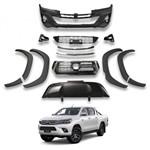 Body Kit Frente Completa Conversão Hilux 2016 2017 e 2018 no Modelo Novo 2019 ROCCO-C ROCCOC