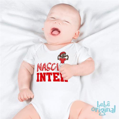 Body Nasci Inter 100% Algodão, Branco Curta P