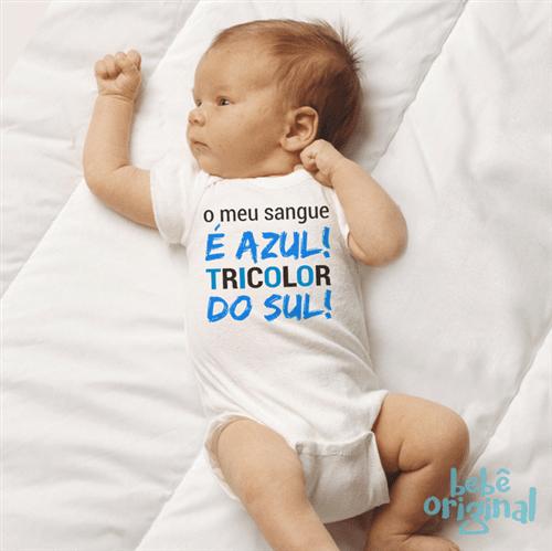 Body Tricolor do Sul 100% Algodão, Branco Curta P