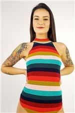 Body Tricot Golinha Rainbow Farm - M