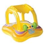 Boia Inflável Baby Bote Kiddie com Cobertura Piscina - Intex Amarelo Único