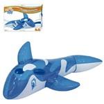 Boia Inflável Baleia Translucida Azul com Alça 80cm