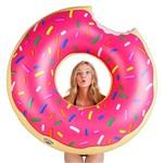 Boia Rosquinha Donut Gigante de Piscina Rosa 120 Cm