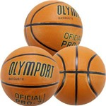 Bola Basquete Oficial Olymport Pró 7.0 3 Unidades