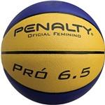 Bola de Basquete Pró 6.5 Oficial Feminino Amarelo e Azul - Penalty