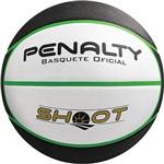 Bola de Basquete Shoot Baby Branca, Preto e Verde 0,3cm - Penalty