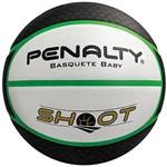 Bola de Basquete Shoot Branca, Preto e Verde 0,3cm - Penalty