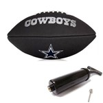 Bola de Futebol Americano Black Nfl Team Logo Jr Cowboys Wilson