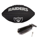Bola de Futebol Americano Black Nfl Team Logo Jr Raiders Wilson