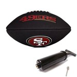 Bola de Futebol Americano Black Nfl Team Logo Jr San Francisco Wilson