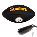 Bola de Futebol Americano Black Nfl Team Logo Jr Steelers Wilson
