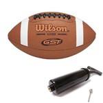 Bola de Futebol Americano Gst Composite + Bomba de Ar Wilson