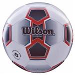 Bola de Futebol de Campo Illusive N.5 Microfibra de Pu e PVC Vermelha Wilson
