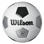 Bola de Futebol de Campo Tradicional N.5 Branca e Preta Wilson