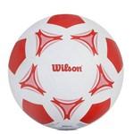 Bola de Futebol de Campo Wilson Branca e Vermelha