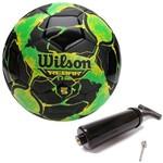 Bola de Futebol Rebar Ng Verde C/ Preto 100% Original Wilson