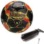 Bola de Futebol Rebar Ng Vermelho C/ Preto Wilson