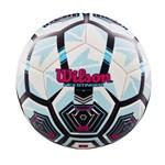 Bola de Futebol Wilson Hex Stinger Tamanho 5 - Branca com Azul-Branco / Azul-SP