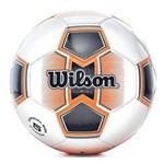 Bola de Futebol Wilson Illusive II Tamanho 5 - Branca com Laranja-Branco / Laranja-SP