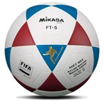 Bola de Futvolei Modelo Ft-5 Branco Vinho e Azul FIFA Mikasa