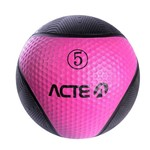 Bola de Peso Medicine Ball 5KG Rosa ACTE T105