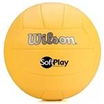 Bola de Vôlei Praia Quadras Softplay Amarela Wilson