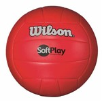 Bola de Vôlei Soft Play Microfibra Pu e Pvc Vermelha Wilson