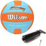 Bola de Vôlei Super Soft Play Laranja C/ Verde Wilson