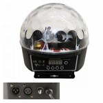 Bola Maluca DMX Globo de Luz Led 6 Cores Efeitos Holográficos Painel Digital