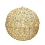 Bola Dourada Decoração de Natal 46 Cm Dourado