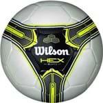 Bola Futebol Wilson Hex Evo 5 - Branca e Amarela
