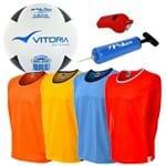 Bola Futsal , Apito, Bomba e 4 Coletes Profissionais