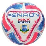 Bola Futsal Penalty Max 1000 Ix 5415441565 Branco/rosa/azul