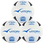 Bola Futsal Vitória Oficial Brx 500 Kit com 3 Unidades