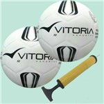 Bola Futsal Vitoria Prata Max 50 Sub 9 + Bomba de Ar