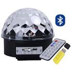 Bola Maluca Bluetooth Led Rgb Mp3 Projetor Holográfico Kit Balada Festa Aniversário