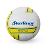 Bola Stadium Volei Matrix Branco com Amarelo - Penalty