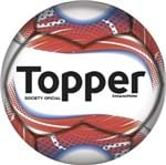 Bola Topper Champion Society Branco/Coral - U