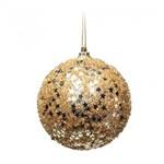 Bolas de Natal 6 Pçs 10Cm Dourado