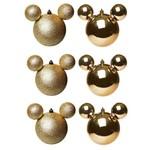 Bolas de Natal Disney - Mickey - Dourada - 6 Uni.