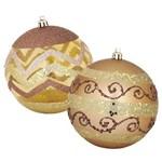 Bolas Enfeite de Natal 10cm Dourada - 02 Unds